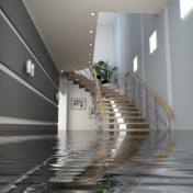 inondation dans la maison