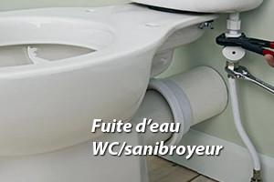 Un WC sanibroyeur qui fuit